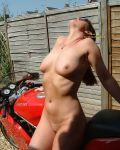 Hot Biker Babe Christina