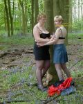 Jackie & Samantha In The Woods