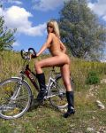 Natascha Gets On Her Bike
