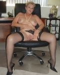 Luscious Lynne At The Office
