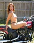 Lusty Leigh Gets Hot  On A Harley II