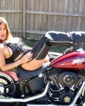 Lusty Leigh Gets Hot  On A Harley