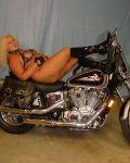 Wildblondeflower On A Harley