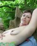 Jilly Gets Hot In The Woods