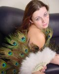 Maddy In Feathers