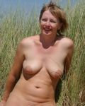 First Time MILF On The Beach