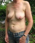 Sexy Mature In The Garden