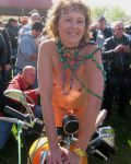 Ruthie At A Bike Rally