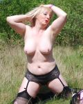 Julia Strips Outdoors II