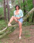 Sexy Milf In The Woods