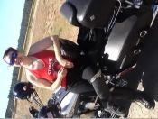 Wife Bj Flashing Her Tits At All My Biker Buddies Stopped Traffic For A While